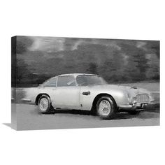 Naxart 'Aston Martin DB5 Watercolor' Painting Print on Wrapped Canvas Size: