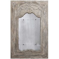 Oversized Stone Gray Mirror