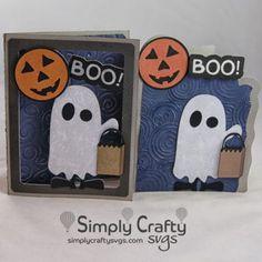 Boo Halloween Card SVG File