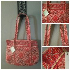 NWT VERA BRADLEY LITTLE BETSY PAPRIKA HANDBAG BEAUTIFUL NEW VERA BRADLEY LITTLE BETSY PAPRIKA HANDBAG, 100% COTTON, HEIGHT 9 IN, DEPTH 8 IN, LENGTH 12 IN, STRAP DROP 12 IN Vera Bradley Bags Shoulder Bags