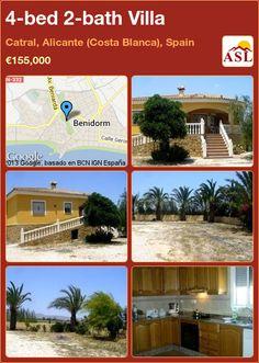 4-bed 2-bath Villa in Catral, Alicante (Costa Blanca), Spain ►€155,000 #PropertyForSaleInSpain