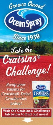 Free Ocean Spray Craisins sample, first 29,000, these will go fast!