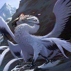 Fantasy Beasts, Fantasy Rpg, Dark Fantasy Art, Mythical Creatures Art, Mythological Creatures, Fantasy Creatures, Creature Concept Art, Creature Design, Dragon Bird