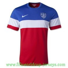 This is a away soccer jersey of USA National Soccer Team, USA National Football team will wear this shirt at the 2014 FIFA World Cup in Brazil Features: Woven USA team badge on the left chest Embroidered nike logo on the right chest ClimaCool to keep you comfortable as you cheer for USA. 100%