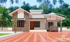 1592 Square Feet 3 Bedroom Single Floor Home Design and Plan - Home Pictures :: Easy Tips Single Floor House Design, House Roof Design, Simple House Design, Bungalow House Design, Modern House Design, Cottage House Plans, Dream House Plans, Modern House Plans, Cottage Homes