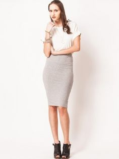 KOOVS Jersey Pencil Skirt | skirts online | Pinterest | Pencil ...