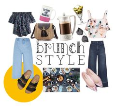 """""""Brunch style"""" by kirac on Polyvore featuring J.Crew, River Island, New Look, Rachel Comey, Bodum, Kate Spade and Christian Dior"""