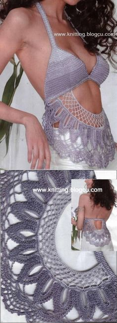 ВЯЗАНЫЙ ШИК: Летние модели вязания крючком по схеме Festival Tops, Festival Wear, Crochet Tank, Crochet Bikini, Boho Style Dresses, Summer Blouses, Crochet Fashion, Outfit Goals, Crochet Clothes