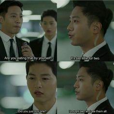 Song Hye Kyo, Song Joong Ki, Desendents Of The Sun, Korean Drama Funny, Songsong Couple, Drama Fever, Funny Memes, Jokes, Drama Quotes