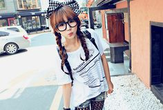 The braided hair ; the big bow ; the outfit :) #summerstyle #styleowner