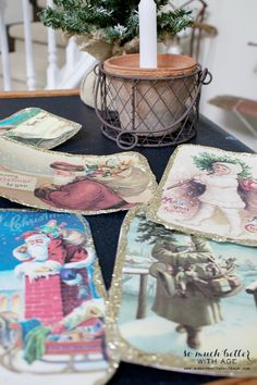 DIY vintage Christmas Postcards - Jennifer Rizzo