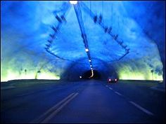 drive through the Laerdal in Norway- the world's longest road tunnel