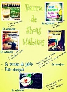 Barra de shots HÁBITOS | Hábitos Health Coaching