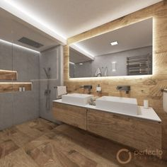 A touch of countryside and nature, this is the RUSTIQUE bathroom. Although it is not a large space, designer Jakub has created a bathroom on 6 m² that not only provides comfort but also looks spacious Bathroom Design Luxury, Modern Bathroom Design, Natural Bathroom, Small Bathroom, Bathroom Design Inspiration, Shower Enclosure, Bathroom Fixtures, House, Natural Lips