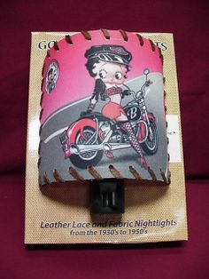 Betty Boop NIGHT LIGHT BIKER DESIGN W/ LACE (RETIRED)