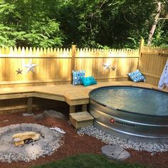 Our new and finished rustic version of a backyard oasis. Absolutely in love with our backyard❤️❤️ Work hard play hard! Our new and finished rustic version of a backyard oasis. Absolutely in love with our backyard❤️❤️ Backyard Projects, Outdoor Projects, Backyard Patio, Backyard Landscaping, Backyard Ideas, Rustic Backyard, Pool Ideas, Backyard Seating, Patio Ideas