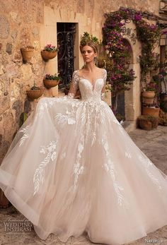 naviblue 2019 bridal long sleeves deep sweetheart neckline heavily embellished bodice romantic glamorous blush a line wedding dress sheer button back chapel train 13 mv - Naviblue 2019 Wedding Dresses Wedding Inspirasi Wedding Dress Cinderella, Sheer Wedding Dress, Princess Wedding, Dream Wedding Dresses, Bridal Dresses, Wedding Gowns, Lace Dress, Lace Weddings, Wedding Shoes