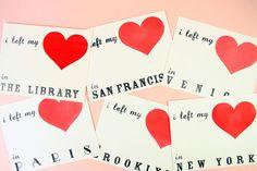 I left my heart in pick your city por paperpastries en Etsy