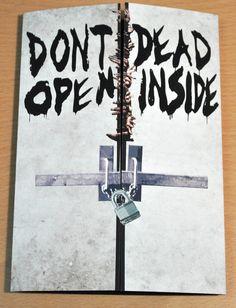 Walking Dead Birthday card Don't Open Dead Inside.