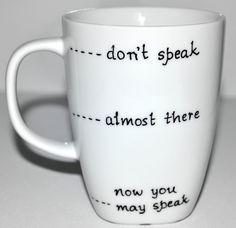Dont Speak Funny Coffee Mug 10 oz by DreamAndCraft on Etsy, $15.00