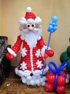 Дед мороз из воздушных шариков