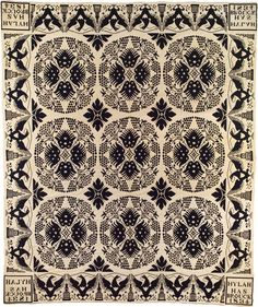 Coverlet (made for Hylah Hasbrouck), 1834