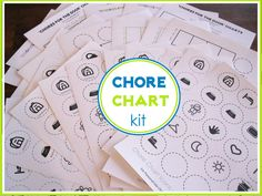 Chore chart for kids. Based on pics so it's friendly to little ones.