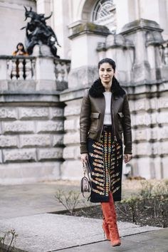 '70s Style - You'll Love These Cold Weather Outfit Ideas From London Fashion Week - Photos