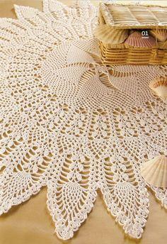Croche e Cia: Toalha Bicos de Abacaxi