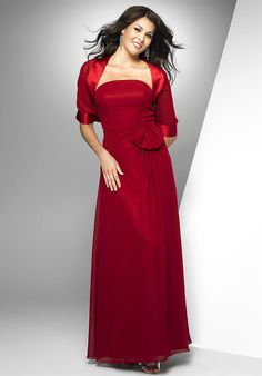 A-Line Strapless Floor-length Poly Chiffon #Bridesmaid Dress Style M829
