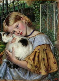Robert Braithwaite Martineau, A Girl with a Cat, 1860 Johannesburg Art Gallery, Südafrika