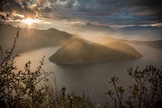 Cuicocha Lake 6 AM (Lago Del Cuy) | Ecuadorian Andes | Photo By Henri Leduc