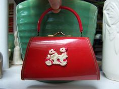 @Rosanna Ratliff  Child's Purse Celluloid scottie Dogs on bike Red by Plantdreaming, $39.00