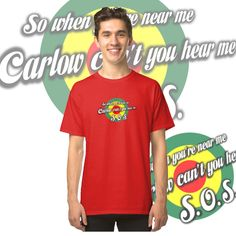 Target design with County Carlow colours from Ireland and a message. Iphone Ca, Fabric Weights, Chiffon Tops, Classic T Shirts, Ireland, Irish, Nostalgia, Shirt Designs, Target