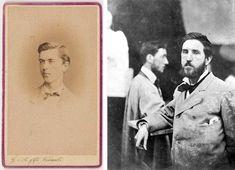 John Singer Sargent 1874 on left, Auguste Saint-Gaudens 1874 on right Paris