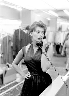 Sophia Loren in New York City, c. 1958.