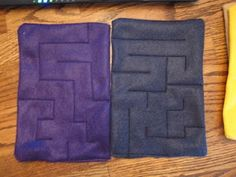 Travel game. Marble mazes, marble sewn between 2 pieces of felt. Great for Mikko and fine motor skills!