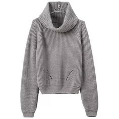 Gray Turtleneck Sweater (760 UAH) ❤ liked on Polyvore featuring tops, sweaters, turtle neck tops, knit sweater, turtleneck tops, grey knit top and knit turtleneck sweater