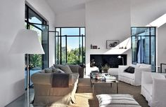 Flamant linen sofa + Gervasoni chairs - Balagne, Corsica