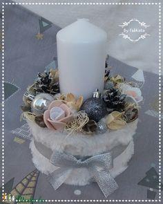 Winter Fashion adventi box karácsonyi asztaldísz doboz (fabkata) - Meska.hu Christmas Decorations, Table Decorations, Pillar Candles, Advent, Centerpieces, Candle Holders, Diy, Home Decor, Creative