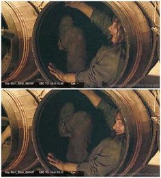 Barrelled Kili . . . WHO is obviously having the time of his life in those barrel-scenes...