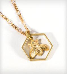 Brass Honeybee Necklace   Jewelry Necklaces   J. Topolski   Scoutmob Shoppe   Product Detail $21
