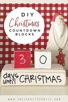 How to make Christmas Countdown Blocks
