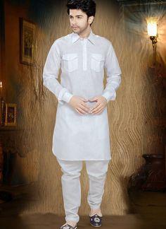 d3b5e2f012 Luscious Off White Men's Wear White Cotton, White Kurta, Mens Kurta Designs,  Sherwani