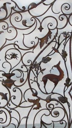 anciennes grilles portes fer forgé italien old wrought iron artwork gates Italy…