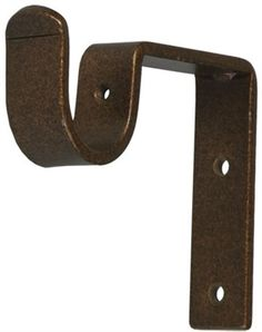 Curtain rod bracket 3 inch projection for 1 inch metal pole