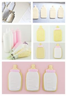 How to make cute baby bottle cookies for a baby shower. Such an adorable favor!