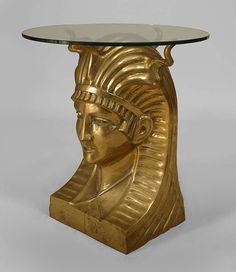 20th c. Egyptian Revival Pharaoh Table