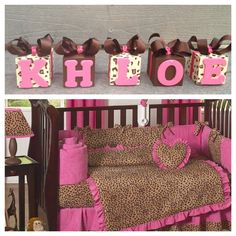 Cheetah Pictures To Print | Hand Painted Cheetah Print Nursery Blocks / JoJo Designs Pink Cheetah ...