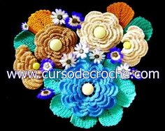 flores em croche variantes da coleção aprendi e ensinei com edinir-croche